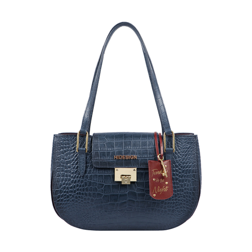 FLING 03 WOMENS HANDBAG CROCO,  midnight blue