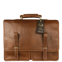 Parma Briefcase, ranchero,  tan
