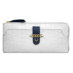 Atria W2 Women's Wallet Croco,  white