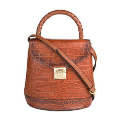 Epocca 01 Women's Handbag, Croco Melbourne Ranch,  tan
