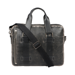GRUNGE 03 BRIEFCASE AFGHAN,  black