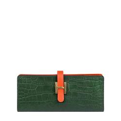 Harper W2 Women's Wallet Croco,  emerald green