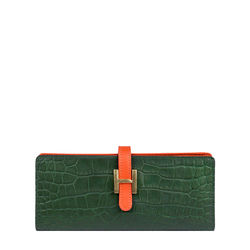 Harper W2 Women's Wallet Croco,  emerald green