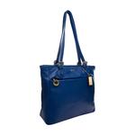 Lucia 02 Women s Handbag, Cow Deer,  prussian
