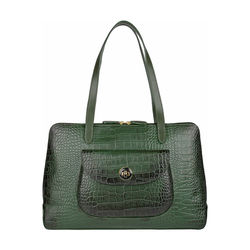 Croco 02 Handbag,  green
