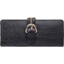 Harajuku W1 Women's Wallet, Baby Croco Ranch,  black, baby croco