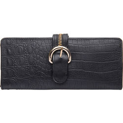 Harajuku W1 Women's Wallet, baby croco,  black