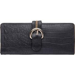 Harajuku W1 Women's Wallet,  black, baby croco