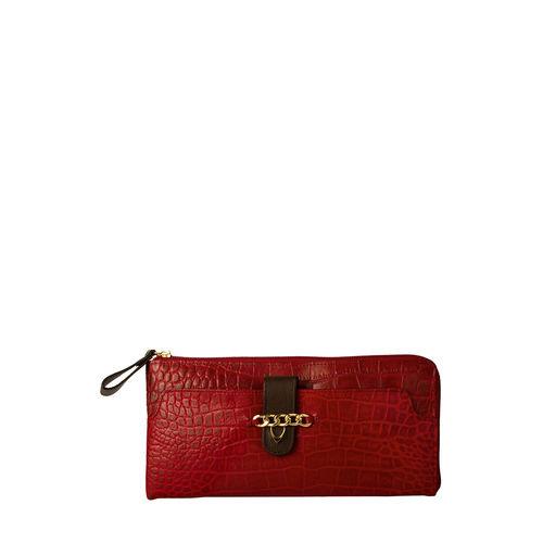 Sb Atria W2 Women s Wallet, Cement Croco Ranchero,  red