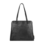 ELINOR 02 SB WOMENS HANDBAG BABY CROCO,  black