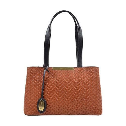 Leo 01 Sb Women s Handbag, Hdn Woven Melbourne Ranch,  tan
