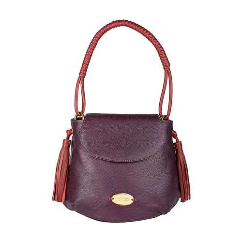 Nappa 01 Women s Handbag, Cow Deer Mel Ranch,  purple