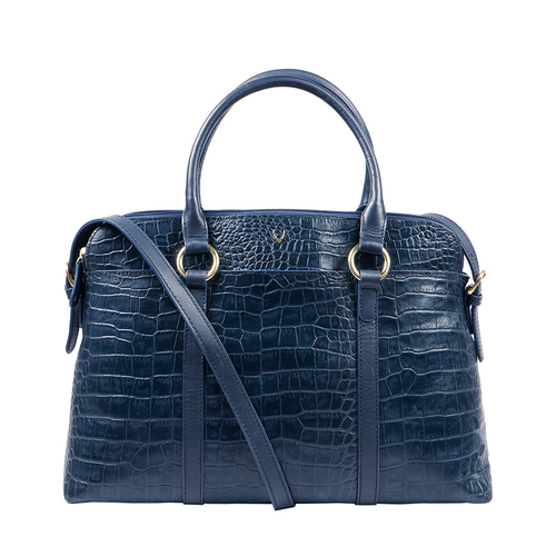 LOVATO 01 WOMENS HANDBAG CROCO,  midnight blue
