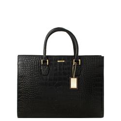 Kester Women's Handbag, Croco,  black
