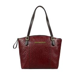 Maple 03 Sb Women's Handbag Ostrich Embossed Melbourne Ranch,  brown