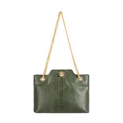 Sb Aliya 01 Women's Handbag Snake,  emerald green