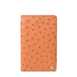 Caspian Passport holder, ostrich,  tan