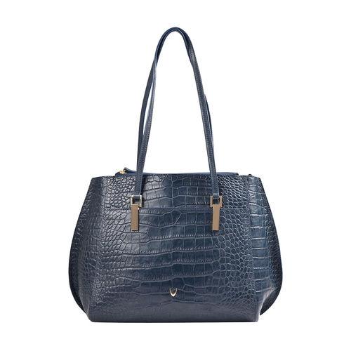 Hidesign X Kalki Alive 02 Women s Handbag Croco,  midnight blue