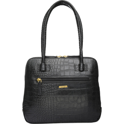 Estelle Women's Handbag Croco,  black