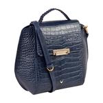 ALIVE 03 WOMEN S SHOULDER BAG, CROCO MELBOURNE RANCH,  midnight blue