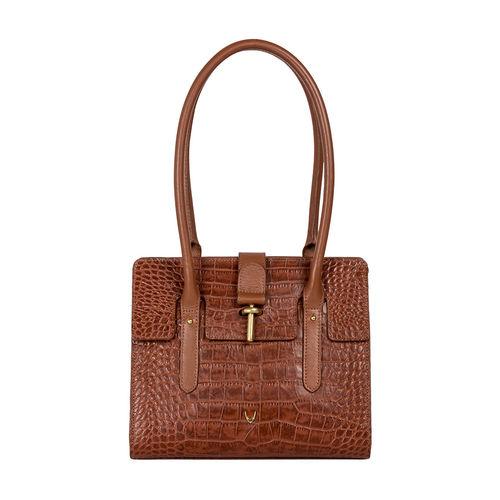 Mocha 01 Women s Handbag, Croco,  tan