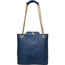 SB ALYA 02 WOMEN'S HANDBAG SNAKE,  midnight blue