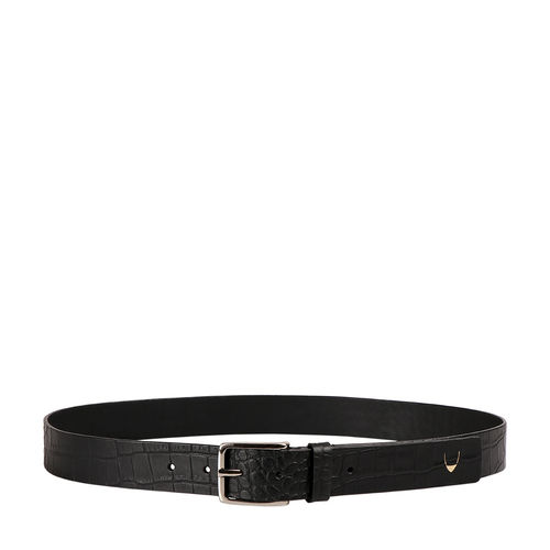 Ee Leanardo Men s Belt Glazed Croco Printed, 40,  black