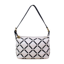 Kochab 02 Handbag, cow deer,  white