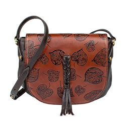 Meryl 03 Women's Handbag, E. I. Leaf Emboss Roma Split,  tan