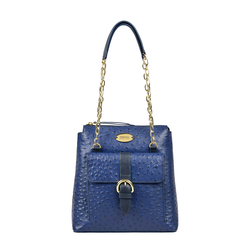 ELIZA 02 SB WOMENS HANDBAG OSTRICH EMBOSS,  midnight blue