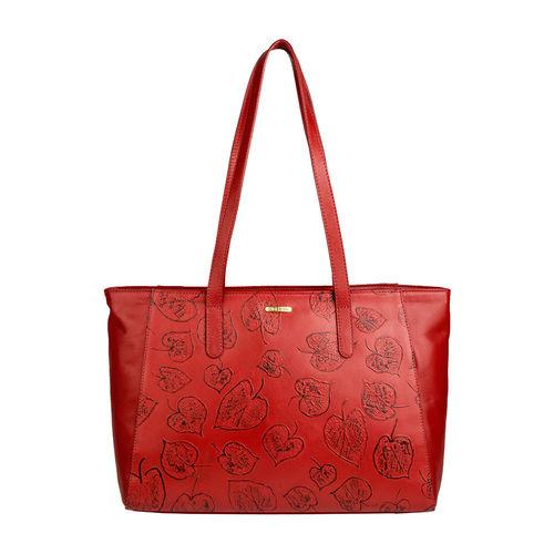 Keaton 01 Women s Handbag, E. I. Leaf Emboss Melbourne Ranch,  dark red