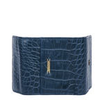 523 RF WOMENS WALLET CROCO,  midnight blue
