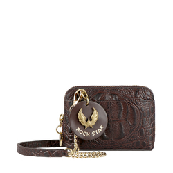 PUNK W2 WOMENS WALLET BABY CROCO,  brown