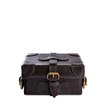 Small Boxy Women s Handbag, Ranchero,  brown