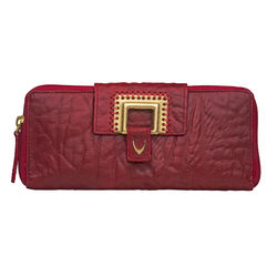 Amore W2 Women's Wallet, Elephant Lamb,  dark red, elephant