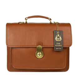 Lucca Briefcase, regular,  tan