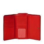 Mina W3 (Rfid) Women s Wallet, Roma,  red