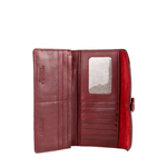 Hibiscus W1 E. I(Rfid) Women s Wallet, E. I. Sheep Veg,  red