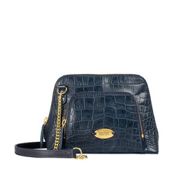 EE GINNY WOMEN'S HANDBAG CROCO,  midnight blue