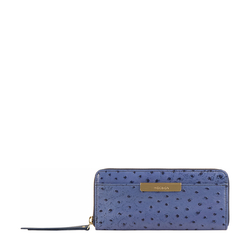 Maple W2 Sb (Rfid) Women's Wallet Ostrich Embossed Melbourne Ranch,  midnight blue