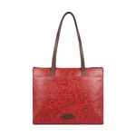 FUSCHIA 02 SB WOMENS HANDBAG FLOWER EMBOSSED,  red
