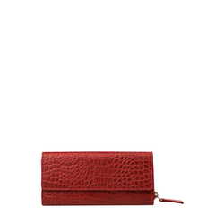 526 (Rfid) Women's Wallet, Croco Ranch,  red