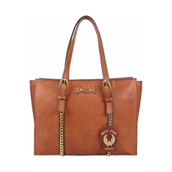 METAL 04 WOMENS HANDBAG KALAHARI,  tan