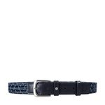 Sienna Men s Belt, Ranchero Woven 32-34,  blue