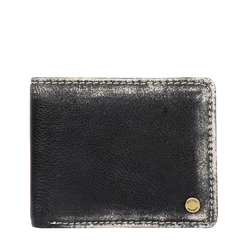 381-ASW004 RF MENS WALLET AFGHAN,  black