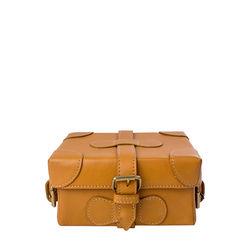 Small Boxy Women's Handbag, Roma Maori,  honey