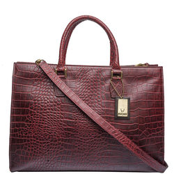 Kester Satchel, croco,  red