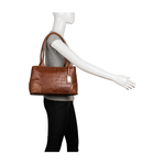 Berlin 02 Sb Women s Handbag Croco,  tan