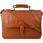Parker 01 Briefcase,  tan, regular