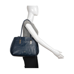 Hidesign X Kalki Alive 02 Women s Handbag Croco,  midnight blue